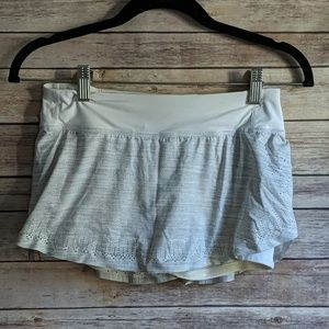 Lululemon Skort with White Shorts Light Gray Skirt